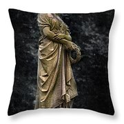 Woman With Wreath Throw Pillow