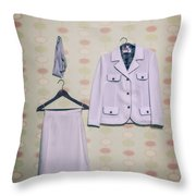 Woman's Clothes Throw Pillow by Joana Kruse