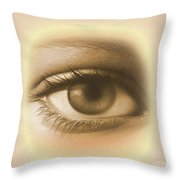 Womans Eye Throw Pillow
