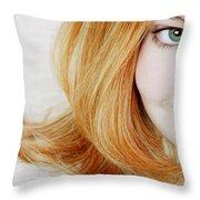 Womans Face Throw Pillow