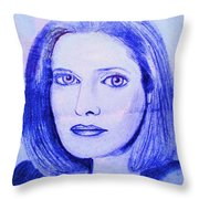 Womans Portrait  Throw Pillow