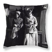 Women  Extras In Old West Costumes Dirty Dingus Magee Set Mescal Arizona 1970 Throw Pillow