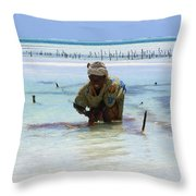 Women Of The Sea Throw Pillow