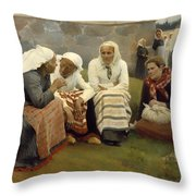 Women Outside The Church - Finland Throw Pillow