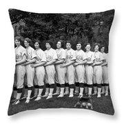 Women's Baseball Team Throw Pillow