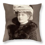 Women's Fashion, 1902 Throw Pillow