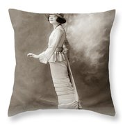 Women's Fashion, C1910 Throw Pillow