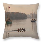 Women's Four And More On The Chester River Throw Pillow