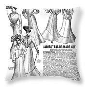 Women's Wear, 1902 Throw Pillow