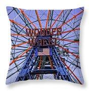 Wonder Wheel 2013 - Coney Island - Brooklyn - New York Throw Pillow