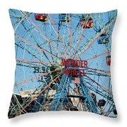 Wonder Wheel Of Coney Island Throw Pillow