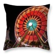Wonder Wheel - Slow Shutter Throw Pillow
