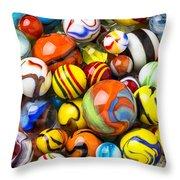 Wonderful Marbles Throw Pillow
