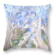 Wondering Through Trees Throw Pillow