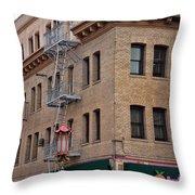 Wong Hotel Throw Pillow