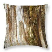 Wood Abstract Throw Pillow