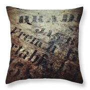 Wood And Ink Throw Pillow