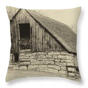 Wood And Stone Throw Pillow