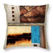 Wood And Stone Rectangular Textures Throw Pillow