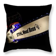 Wood Boss Throw Pillow