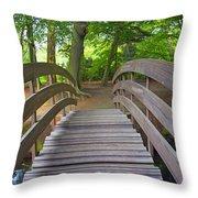 Wood Bridge Throw Pillow