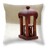 Wood Carving By George Wood Throw Pillow