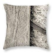 Wood Concrete And Steel Throw Pillow