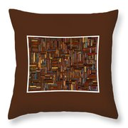 Wood Cuts Throw Pillow