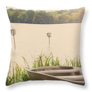 Wood Duck Boxes Throw Pillow