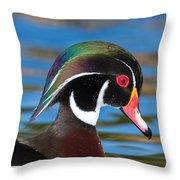 Wood Duck IIi Throw Pillow