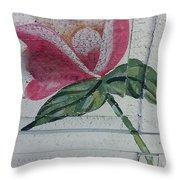 Wood Flower Throw Pillow
