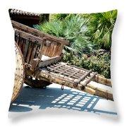 Wood Hand Cart II Throw Pillow