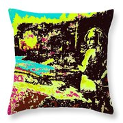 Wood Nymph In Glaring Daylight Throw Pillow