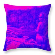 Wood Nymph In Pink And Blue Throw Pillow