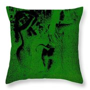 Wood Nymphs In Green Night Sight Throw Pillow