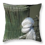 Wood Post Throw Pillow by Nelson Watkins
