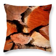 Wood Puzzle Throw Pillow