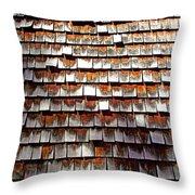 Wood Roof Shingles Throw Pillow