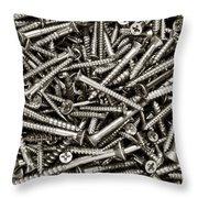 Wood Screws  Throw Pillow
