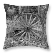 Wood Spoke Wheel Throw Pillow
