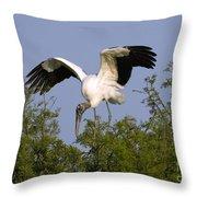 Wood Storks Throw Pillow