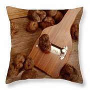 Wood Truffle Slicer Throw Pillow