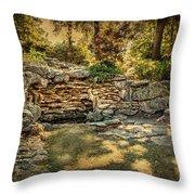 Woodard Park Koi Pond Throw Pillow by Tamyra Ayles