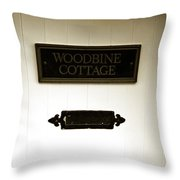 Woodbine Cottage - In Bakewell Town Peak District - England Throw Pillow