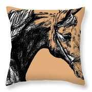 Woodbury Taupes Throw Pillow