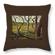 Wooded Glade Throw Pillow