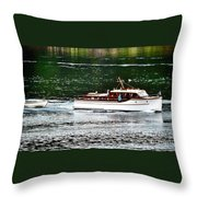 Wooden Boat With Skiff Throw Pillow
