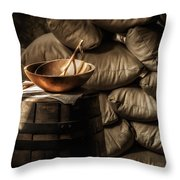 Wooden Bowl Throw Pillow by James Barber