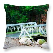 Wooden Bridge Throw Pillow