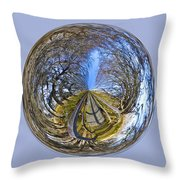 Wooden Bridge Orb Throw Pillow